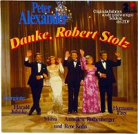 Cover Peter Alexander - Danke, Robert Stolz