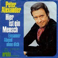 Cover Peter Alexander - Hier ist ein Mensch