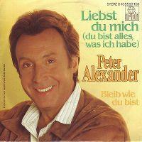 Cover Peter Alexander - Liebst du mich (du bist alles was ich habe)
