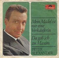 Cover Peter Alexander - Mein Mädel ist nur eine Verkäuferin