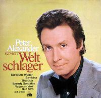 Cover Peter Alexander - Peter Alexander serviert Weltschlager