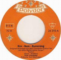 Cover Peter Alexander / Orchester Kurt Edelhagen - Bim-Bam-Bumerang