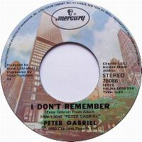 Cover Peter Gabriel - I Don't Remember