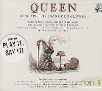 Cover Queen - These Are The Days Of Our Lives