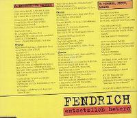 Cover Rainhard Fendrich - Entsetzlich hetero
