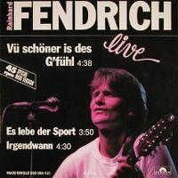 Cover Rainhard Fendrich - Vü schöner is des G'fühl (live)