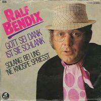 Cover Ralf Bendix - Gott sei Dank ist sie schlank