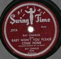 Cover Ray Charles - Baby, Won't You Please Come Home