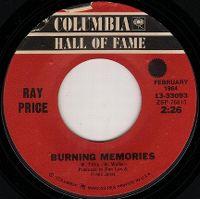 Cover Ray Price - Burning Memories