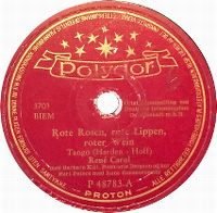 Cover René Carol - Rote Rosen, rote Lippen, roter Wein