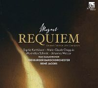 Cover René Jacobs / RIAS Kammerchor / Freiburger Barockorchester - Requiem - Mozart: Süssmayr / Dutron 2016 Completion