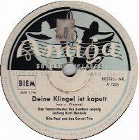 Cover Rita Paul & Cornel-Trio / Kurt Henkels und das Rundfunk-Tanzorchester Leipzig - Deine Klingel ist kaputt