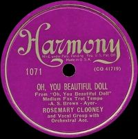 Cover Rosemary Clooney - Oh, You Beautiful Doll