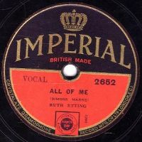 Cover Ruth Etting - All Of Me