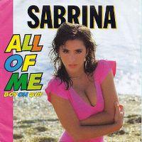 Cover Sabrina - All Of Me (Boy Oh Boy)