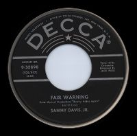 Cover Sammy Davis, Jr. - Fair Warning