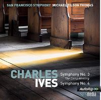Cover San Francisco Symphony / Michael Tilson Thomas - Charles Ives: Symphony No. 3 The Camp meeting - Symphony No. 4