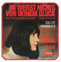 Cover Sandie Shaw - Du weisst nichts von deinem Glück