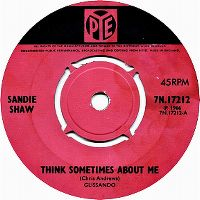 Cover Sandie Shaw - Think Sometimes About Me