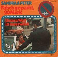 Cover Sandra & Peter - Falsch geparkt, 20 Mark