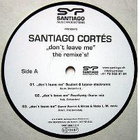 Cover Santiago Cortés - Don't Leave Me