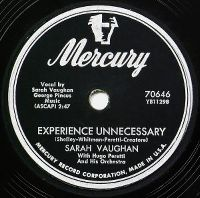 Cover Sarah Vaughan - Experience Unnecessary