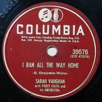 Cover Sarah Vaughan - I Ran All The Way Home