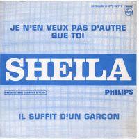 Cover Sheila - Je n'en veux pas d'autre que toi