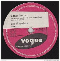 Cover Sidney Bechet - Out Of Nowhere