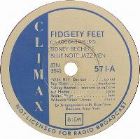 Cover Sidney Bechet's Blue Note Jazz Men - Fidgety Feet