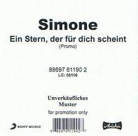 Cover Simone - Ein Stern, der für dich scheint