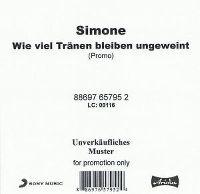 Cover Simone - Wieviel Tränen bleiben ungeweint
