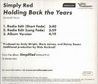 Cover Simply Red - Holding Back The Years (Simplified Version)