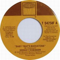Cover Smokey Robinson - Baby That's Backatcha