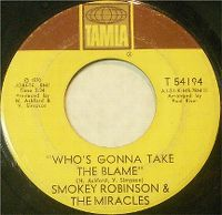 Cover Smokey Robinson & The Miracles - Who's Gonna Take The Blame