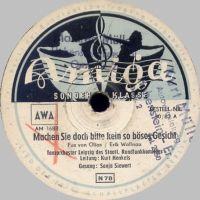 Cover Sonja Siewert / Kurt Henkels und das Tanzorchester Leipzig des Staatlichen Rundfunkkomitees - Machen Sie doch bitte kein so böses Gesicht