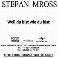 Cover Stefan Mross - Weil du bist wie du bist