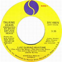 Cover Talking Heads - Life During Wartime