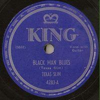 Cover Texas Slim - Black Man Blues