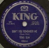 Cover Texas Slim - Don't You Remember Me