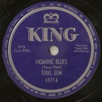 Cover Texas Slim - Moaning Blues