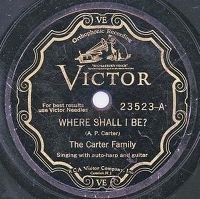 Cover The Carter Family - Where Shall I Be?
