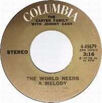 Cover The Carter Family with Johnny Cash - The World Needs A Melody
