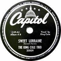 Cover The King Cole Trio - Sweet Lorraine