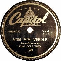 Cover The King Cole Trio - Vom, Vim, Veedle