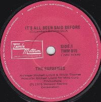 Cover The Supremes - It's All Been Said Before