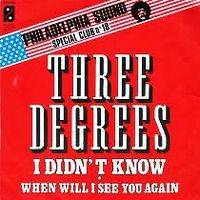 Cover The Three Degrees - I Didn't Know