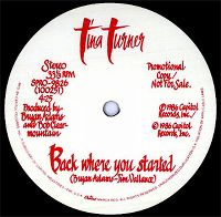 Cover Tina Turner - Back Where You Started