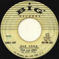 Cover Tom And Jerry / Lee Simms Orch. - Our Song