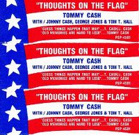 Cover Tommy Cash With Johnny Cash, George Jones & Tom T. Hall - Thoughts On The Flag
